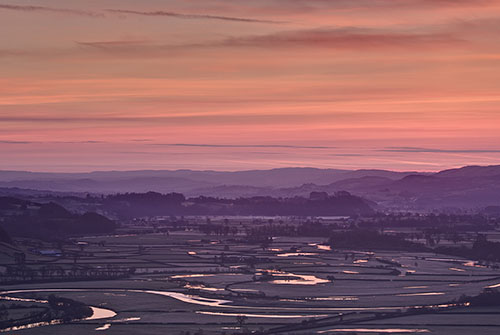 Sunrise from Paxtons Tower by Nigel McCall